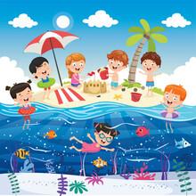 Vector Illustration Of Summer Holiday
