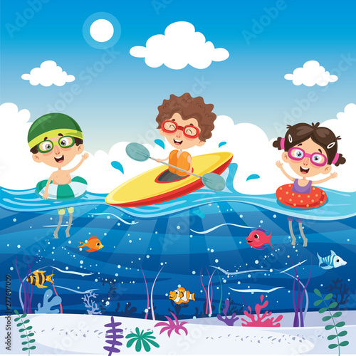 La pose en embrasure Pirates Vector Illustration Of Summer Holiday