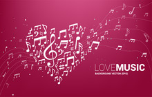 Vector Music Melody Note Shape...