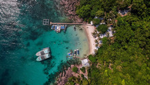 An Aerial View Of A Tropical Island In The Gulf Of Thailand Off The Coast Of Phu Quoc, Vietnam, Near Cambodia