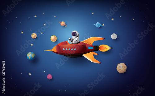 Cuadros en Lienzo Astronaut Astronaut floating in the stratosphere .