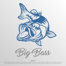 Big Bass Logo Illustration