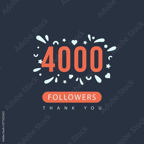 4000 followers thank you Canvas-taulu