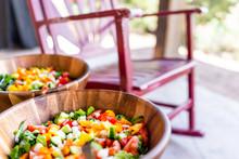 Closeup Of Fresh Salad In Wood...
