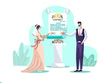 Marriage Contract Concept Vect...