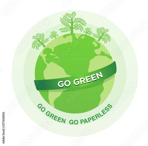 Go Green Go paperless - fototapety na wymiar