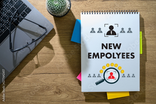 Photo new employee Welcome Aboard business, new job and corporate