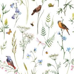 FototapetaWatercolor floral vector pattern