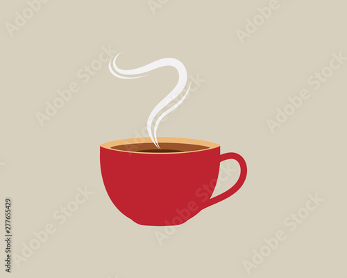 Fotografia, Obraz Coffee cup Logo Template vector icon design