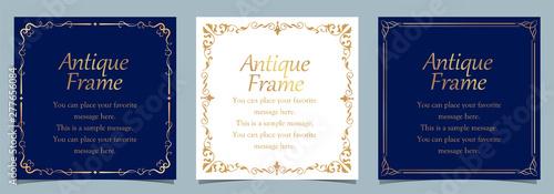 周年イベントやお祝い事などで使いやすいゴージャスでアンティーク調のフレームデザインテンプレート Fototapete