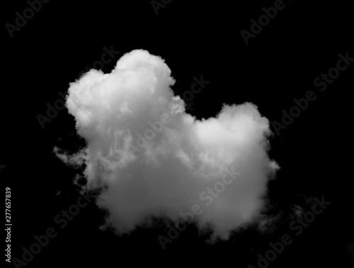 fototapeta na szkło White cloud object for nature design summer background