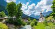Panorama Pfarrkirche St. Sebastian in Ramsau