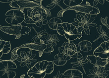 Seamless Pattern With Carps, L...