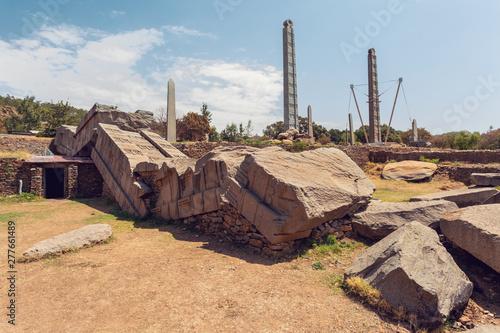 Ancient obelisks in city Aksum, Ethiopia Wallpaper Mural