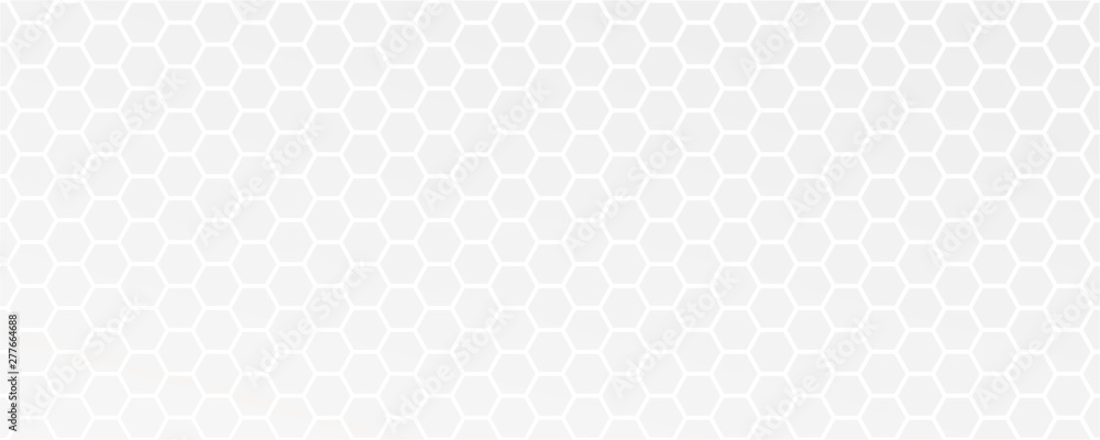Fototapeta white abstract honeycomb background vector illustration EPS10