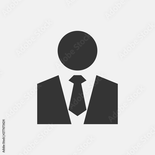 Man in suit vector icon illustration sign , Buy this stock
