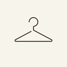 Hanger Line Icon. Fitting Room, Cloakroom, Changing Room. Laundry Concept. Vector Illustration Can Be Used For Topics Like Service, Shopping, Clothing