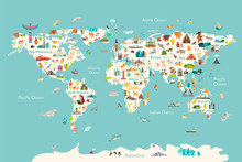 World Map Vector Illustration....