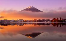 Mount Fuji At Sunrise, Japan