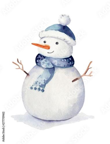 Fotografie, Obraz Christmas watercolor Winter holidays isolated illustration