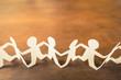 Paper Team on Wood