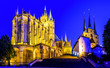 canvas print picture - famous old cathedral in erfurt