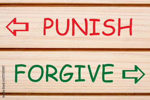 Punish Forgive Opposite Words Canvas Print
