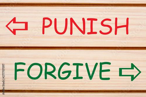 Punish Forgive Opposite Words Wallpaper Mural