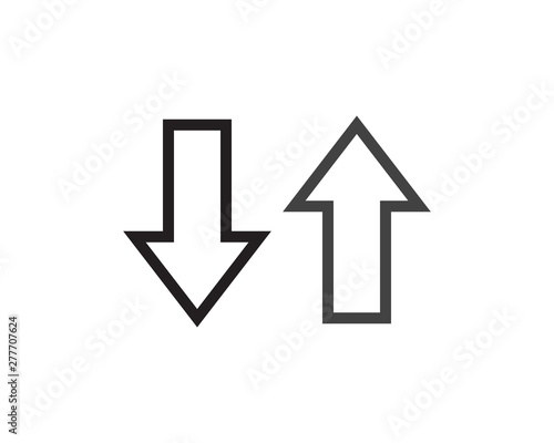symbol of bidirectional arrows data transfer Canvas Print