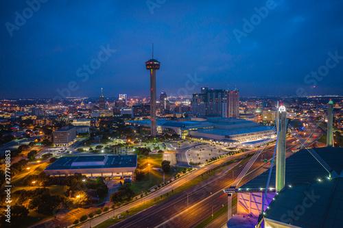 Aerial Landscape of San Antonio Texas Canvas Print