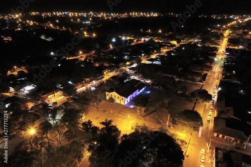 Fotografija  Night aerial view of Chapada dos Guimarães, Mato Grosso, Brazil