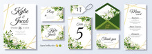 Wedding Invitation, Menu, Rsvp...