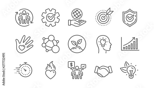 Cuadros en Lienzo Core values line icons
