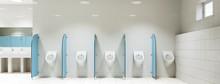 Urinale In öffentlicher Toilette