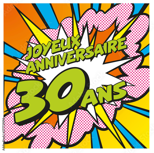 Carte Joyeux Anniversaire 30 Ans 3 Buy This Stock Vector And Explore Similar Vectors At Adobe Stock Adobe Stock
