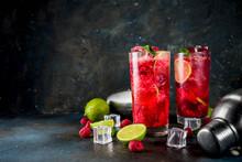 Raspberry And Lime Lemonade