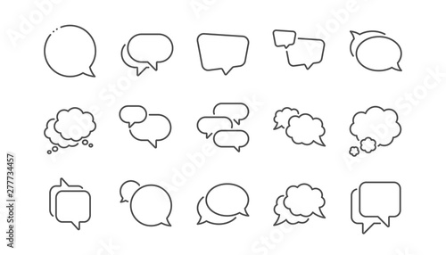 Canvastavla Speech bubbles line icons