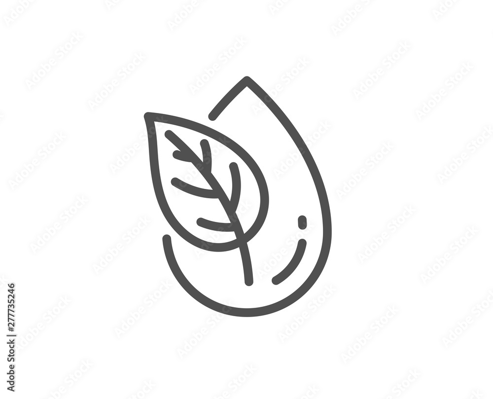 Fototapeta Organic product line icon. No artificial colors sign. Natural flavors symbol. Quality design element. Linear style organic product icon. Editable stroke. Vector