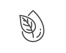 Organic Product Line Icon. No Artificial Colors Sign. Natural Flavors Symbol. Quality Design Element. Linear Style Organic Product Icon. Editable Stroke. Vector