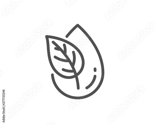 Fototapeta Organic product line icon. No artificial colors sign. Natural flavors symbol. Quality design element. Linear style organic product icon. Editable stroke. Vector obraz