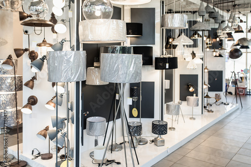 Foto  Big home lighting store interior