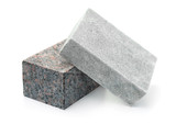 Fototapeta Kamienie - Unpolished granite and marble stone blocks