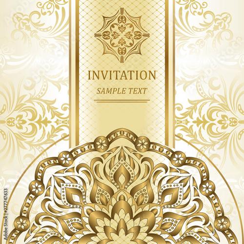 Elegant Invitation Cards Vector Illustration Islam