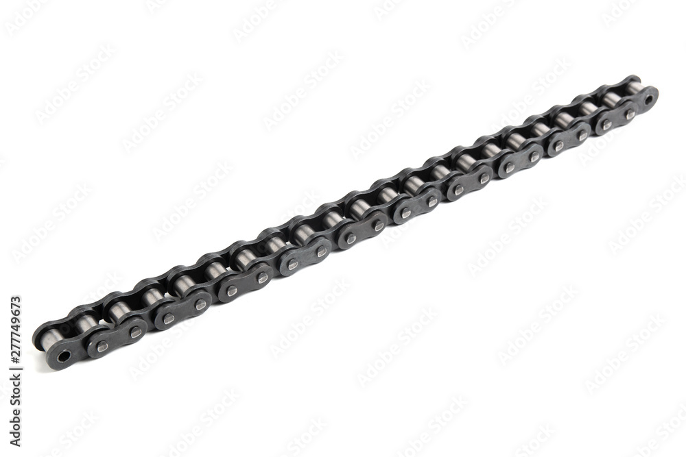 Fototapety, obrazy: Roller chain isolated on a white background