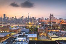 New York City With Queensboro Bridge