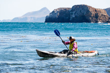 Open Top Kayaking Near Scorpion Bay, Channel Islands National Park. Guided Trips At The Park Are Recommended By The National Park Service As Conditions Can Change Rapidly.