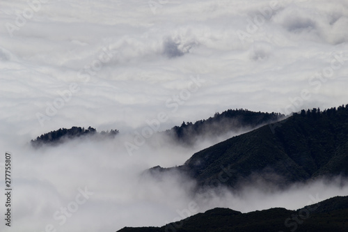 Mountaintops and clouds
