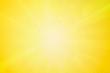 Leinwandbild Motiv Summer or spring abstract blurry bright yellow background