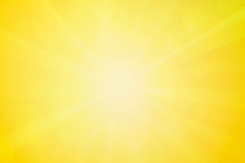 Summer Or Spring Abstract Blurry Bright Yellow Background