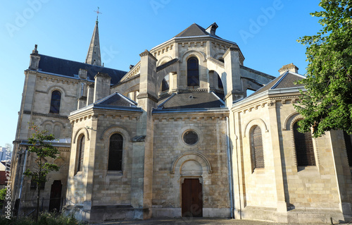Church located in the city of Argenteuil and named Basilique Saint Denys Wallpaper Mural